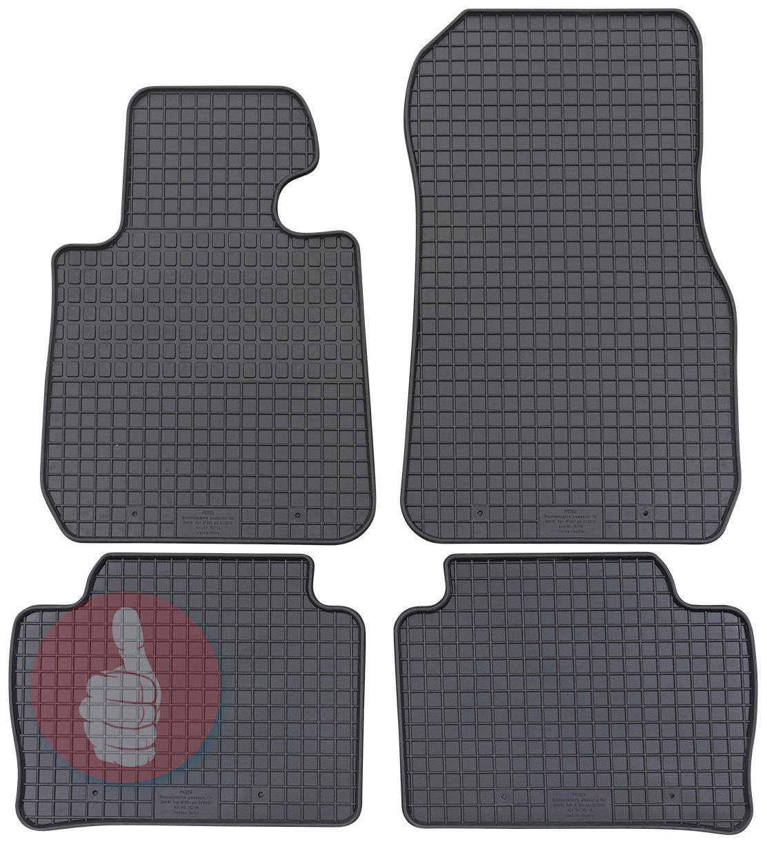 Gummi Fußmatten BMW F30 F31 3er ab 2011 Gummimatten Gummifußmatten 4teilig Set