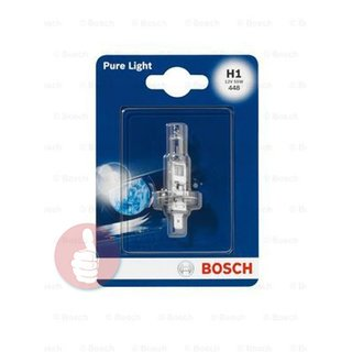 BOSCH Glühlampe Halogenlampe H1 12 V 55 W Pure Light 1987301005