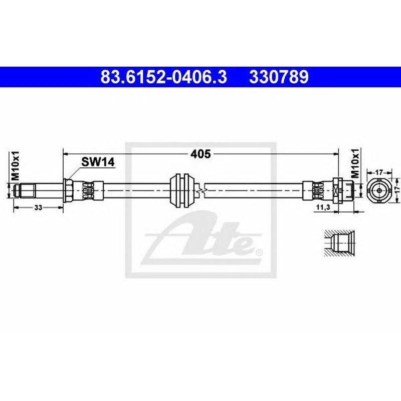Bremsschlauch ATE 83.6152-0406.3